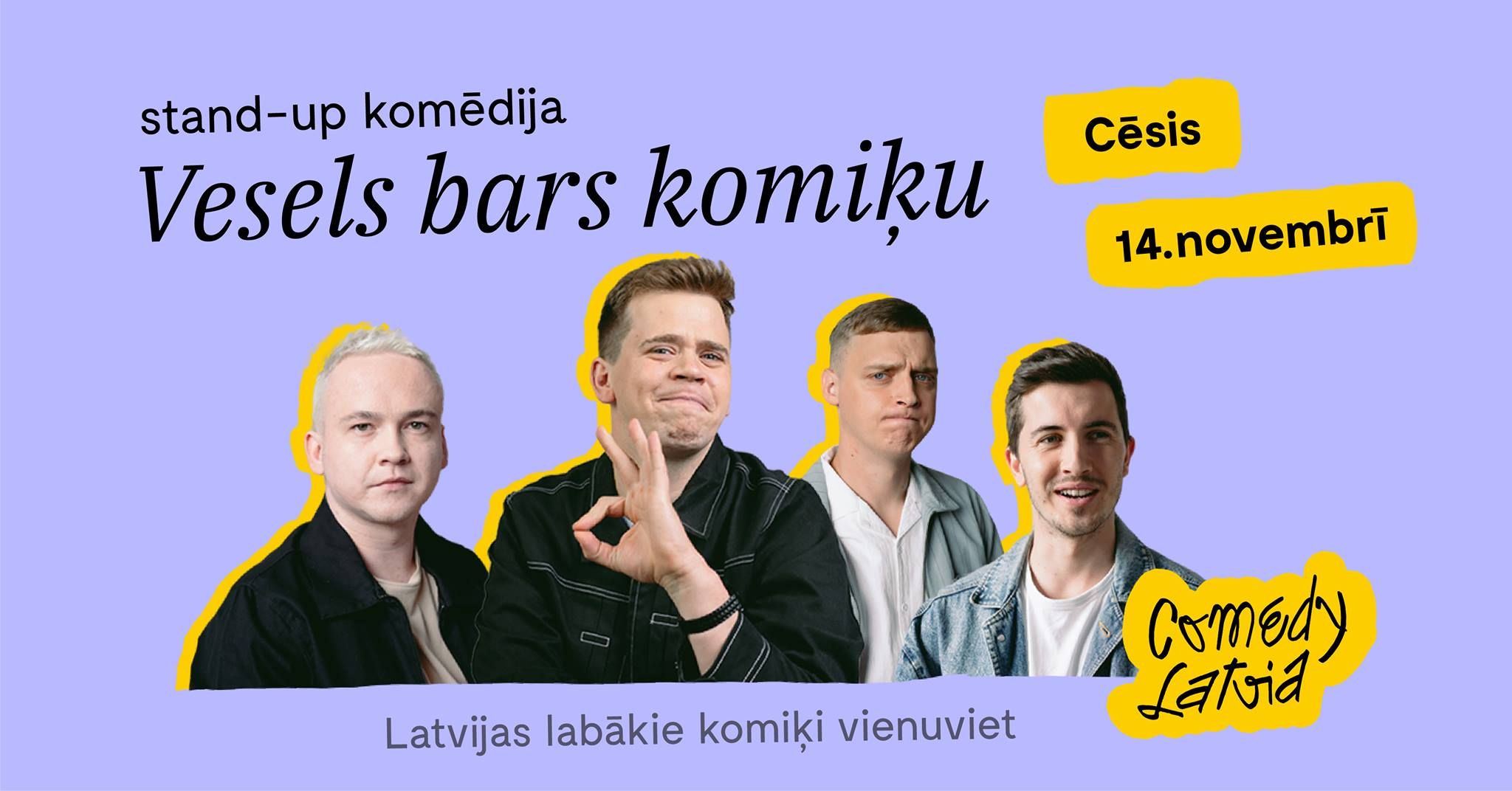 "Comedy Latvia: ""Vesels Bars Komiķu"""